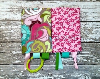 Lotus Pink Vines Drool Pads