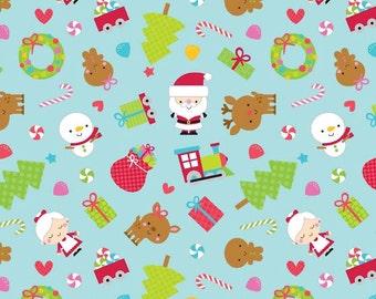 Riley Blake Christmas Fabric SANTA EXPRESS fabric!  Riley Blake fabric, C4720, santa express holiday fabric, Riley Blake Doodlebug Designs
