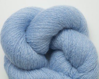 Cashmere Yarn, Light Blue Recycled Lace Weight Cashmere Yarn, 1644 Yards Available