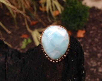 SPRING SALE Larimar Sterling Ring