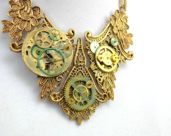 """Victorian Steampunk Necklace """"Remembrance of Things Past"""""""