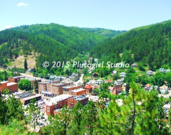 Deadwood, South Dakota, Tilt-Shift Photo (8 x 10)