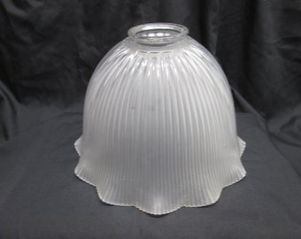 Holophane Prismatic Glass Shade, ribbed glass shades
