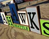 Seattle Seahawks HAWKS Blocks