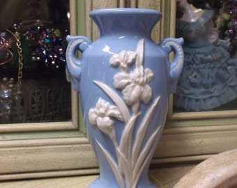 Blue And White Iris Vase