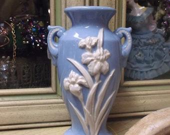 Blue And White Iris Vase