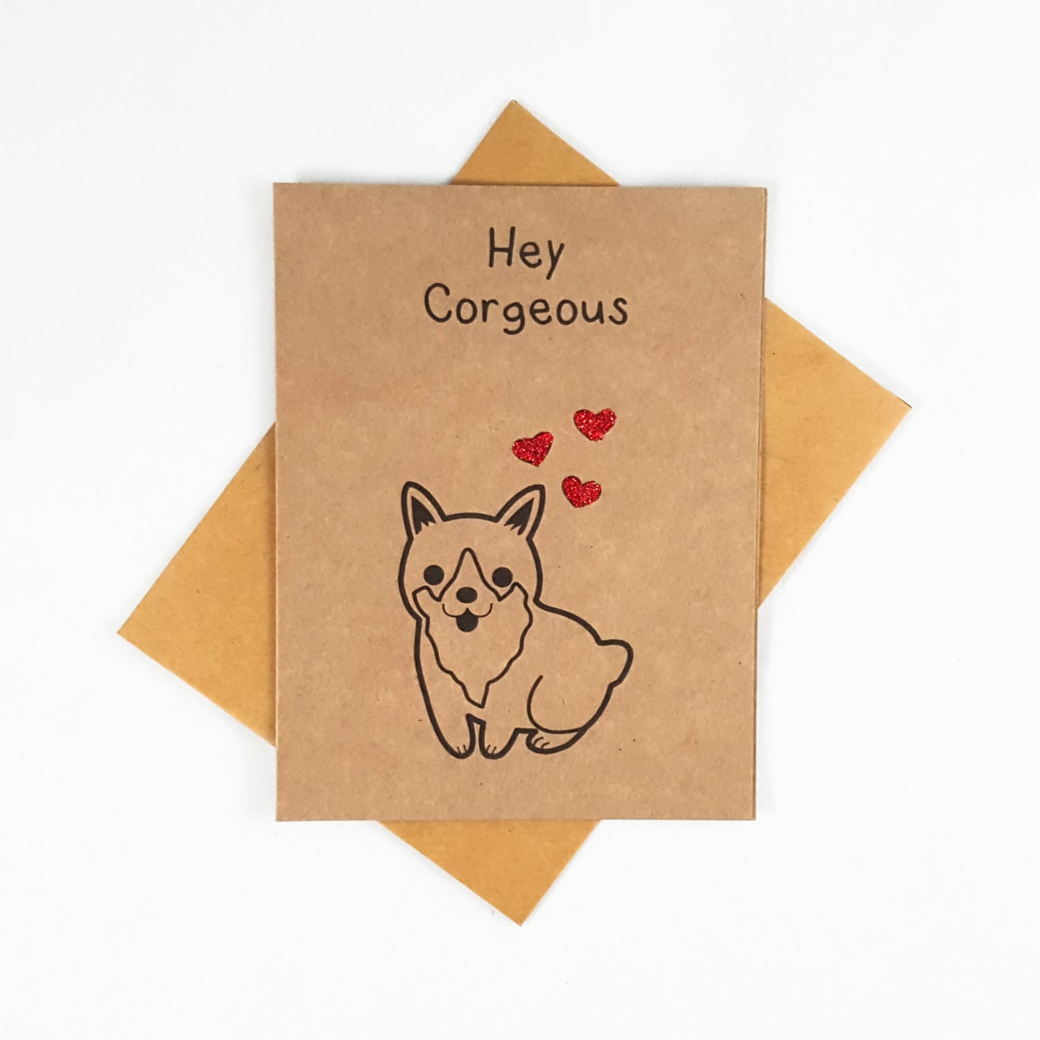 Corgi Love Card Funny love you card Valentines Day Card