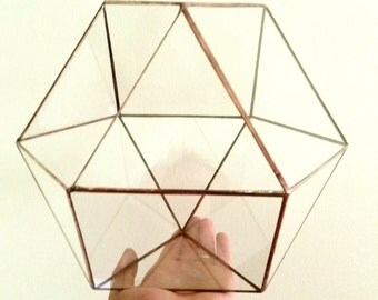 Conservatory / Wedding Envelope Holder / Geometric Terrarium / Glass Terrarium / Cuboctahedron / Minimalistic Decor