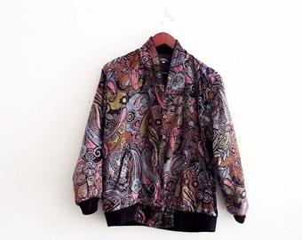 80s bomber jacket | Etsy