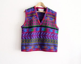 Vintage Adrienne Vittadini Sweater Vest Made in Italy