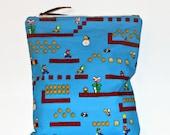 Large Wet Bag Super Mario Bros, Cloth Diaper Wet Bag, Reusable Waterproof Bag, Beach Bag, Pool Bag, Wetbag