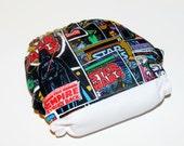 One Size Pocket Cloth Diaper Star Wars Comic Book, Reusable Cloth Diaper, One Size Cloth Nappy, One Size Cloth Diaper Cover, Star Wars Cover