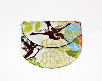 Pacifier Pouch Tranquil Hummingbirds, Pacifier Pouch, Pacifier Holder, Coin Purse, Small Wallet, Card Holder, Small Wallet, Binky Pouch