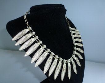 Vintage Gold Tone Bib Style Necklace Vintage Necklace
