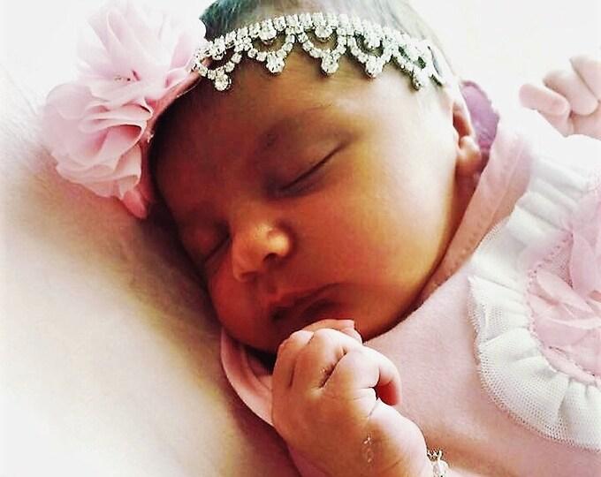 Baby Girl Pink  Rhinestone Headband
