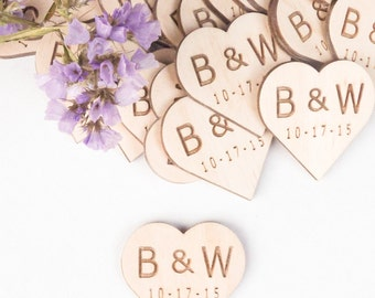 Personalized Wooden Hearts, Wedding Favors, Wooden Heart Favors, Heart Tags, Heart Favors, Wood Heart, Drink Tags, Woodworking, wood craft,