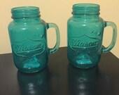 Vintage Set Mason Jar Mug Glasses