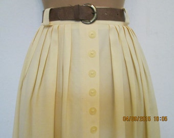 Long Skirt / Skirt Vintage / Skirt Maxi / Yellow Skirt / Size: EUR 44 / UK16 / Lining / Viscose / Elastic Waist