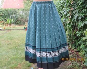 Pleated Skirt / Pleated Skirts / Skirt Vintage / Size EUR40 / UK12 / Elastic Waist