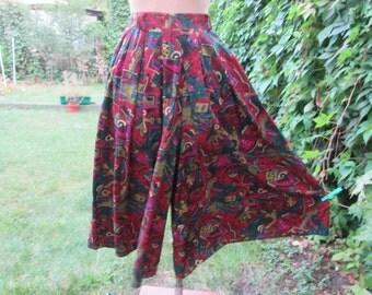 Long Skort Vintage / Skirt / Shorts /  Size EUR40 / UK12 / Made in West Germany