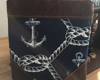Nautical Waxed Canvas Pouch