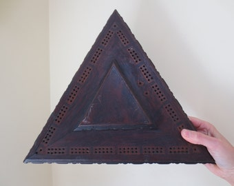 Triangle Antique Display Wooden Stand
