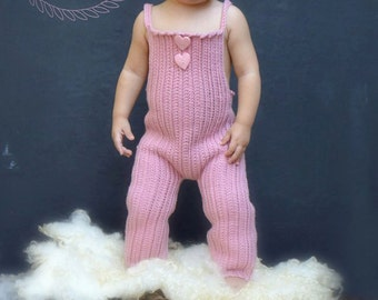 INSTANT DOWNLOAD - Crochet Pattern for Knot-Knit Overalls