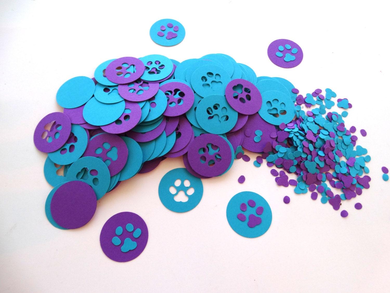 paw print confetti dog theme confetti kids party paw patrol