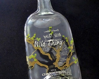 Recycled Wild Thing Chardonnay Bottle Plate