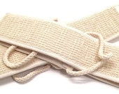 Back Strap - Ramie and Cotton Back Scrubber - Exfoliating Back Strap - Bath Shower Strap