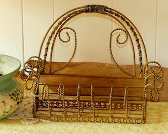 VINTAGE TWISTED WIRE Basket