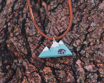 Cabin in the Mountains Necklace