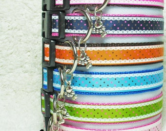 Lace and Dots Dog Collars Small