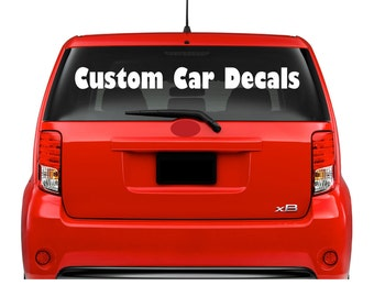 Car Window Vinyl Decals Lettering Outdoor Business Logo Custom Personalized Rear Back