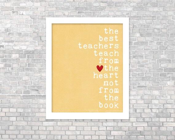 Digital Art Print Teacher Gift Best Teachers Original Art Poster Teacher Gift Black Typography Quote Yellow Teacher Gift Classroom Decor