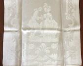 Vintage Damask TeaTowel Guest Towel