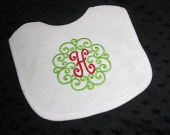 Christmas Personalized Bib   -Fall Holiday  - Baby Gift