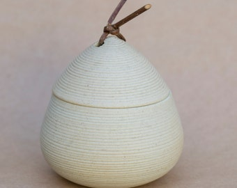 Japanese ceramic container with lid