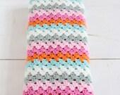Striped crochet cowl --> english PDF PATTERN