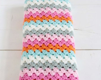 Striped crochet cowl --> english PDF PATTERN