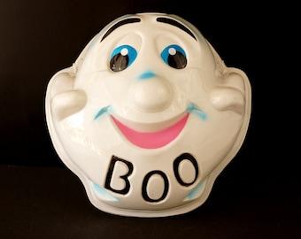 "Vintage Ghost Mask ""BOO"" for Halloween (c1950s) N2 Large Mask - Halloween Decor, Costume or Pumpkin Mask"