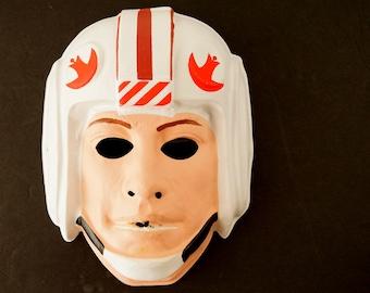 Vintage Star Wars Luke Skywalker Mask by Ben Cooper for Halloween (c1977) - Halloween Decor, Star Wars Return of the Jedi Mask