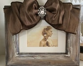 Wedding Frame Rustic Bow Jewel Diamond Bling Personalize Customize Wedding Family Girl Bride Portrait