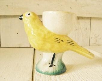 Vintage bird ceramic vase planter