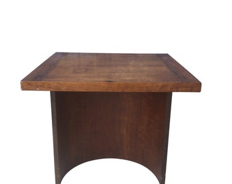 Mid Century Square End Table by Kroehler