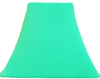 Seafoam SLIP COVER for your existing lamp shade - STRETCHES to fit perfectly