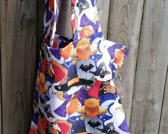 Halloween Treat Bag- Halloween Goodie Bag- Small Halloween Treat Bag- Halloween Tote Bag- Small Halloween Tote Bag- Small Halloween Bag- Bag