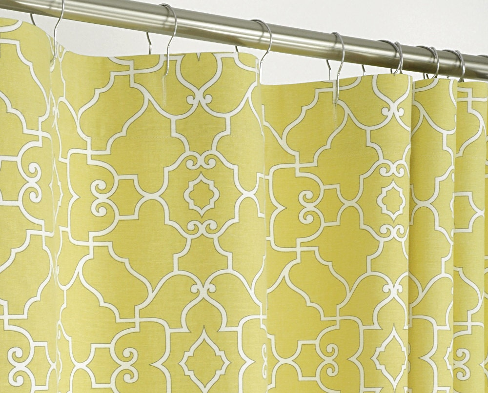 Yellow Shower Curtain Contemporary 72 Wide X 72 78 By PondLilly