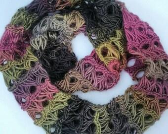 Infinity Scarf handmade crochet scarf