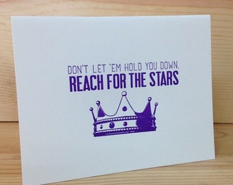 Reach For the Stars Letterpress Card